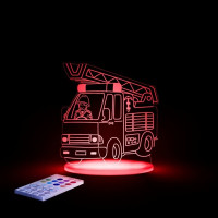 Aloka Sleepy Night Lights - Fire Engine