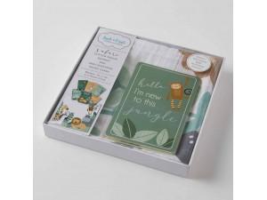 Muslin & Baby Milestone Gift Set - Safari