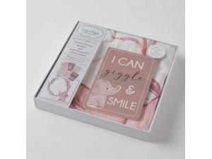 Muslin & Baby Milestone Gift Set - Pink Elephant