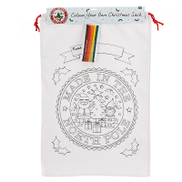 Colour your own Canvas Sack -North Pole