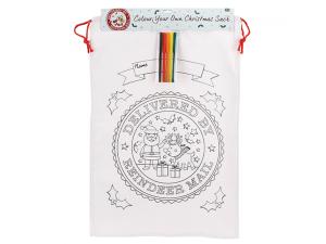 Colour your own Canvas Sack - Reindeer