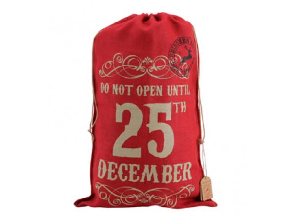 Red Hessian Sack (25 Dec)