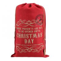Red Hessian Sack (Christmas Day)