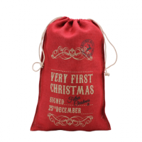 Red Hessian Sack (Very First Christmas)