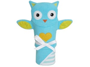 Bath Puppet with Hooded Towel Set