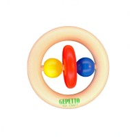 Gepetto Teething Ring w/Ringli (Natural)