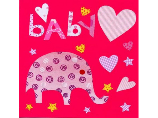 Gift Card  Elephant Pink