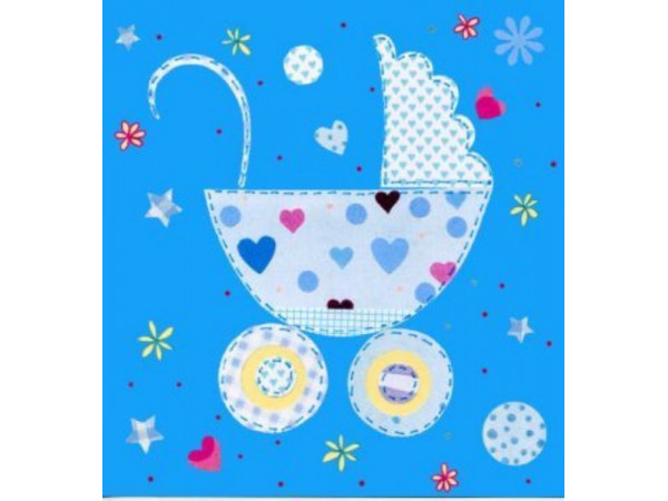 Gift Card Blue Pram
