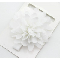 Bright Flower Headband (White)