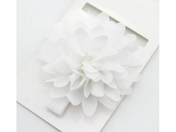 Bright Flower Headband (White)