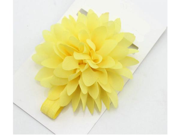 Bright Flower Headband (Yellow)
