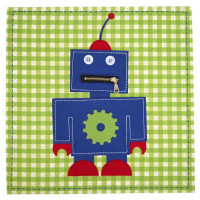 Lily & George Robot Stitched Canvas