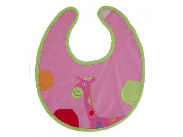 Lily & George Pink Giraffe Bib