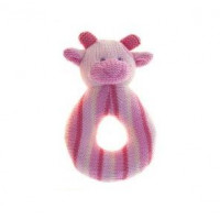 Lily & George Ring Rattle - Cow