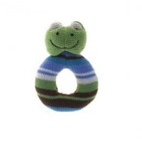 Lily & George Ring Rattle - Frog
