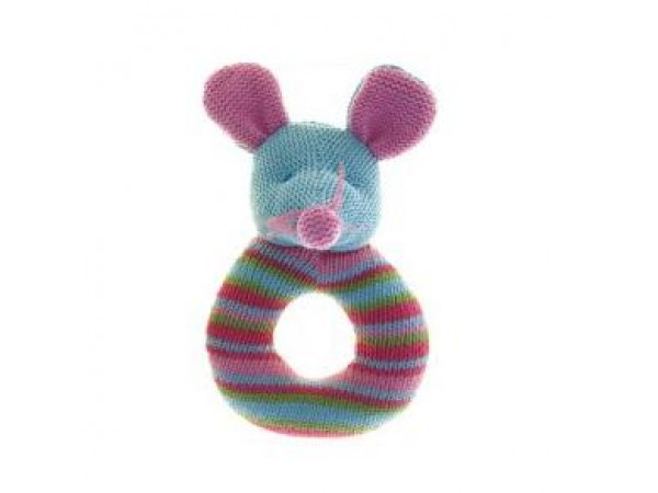 Lily & George Ring Rattle - Mouse
