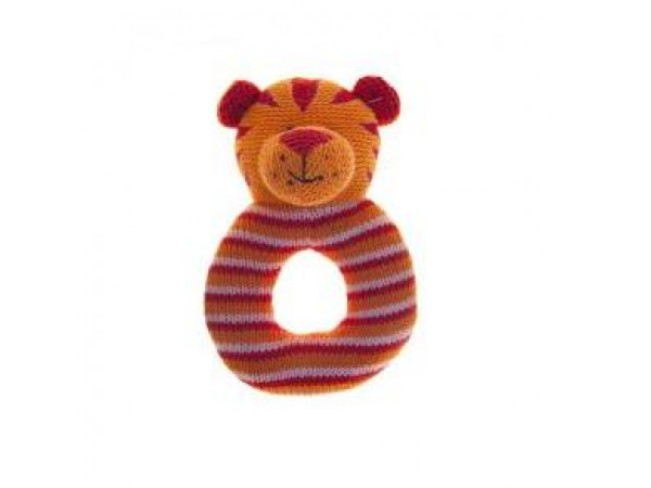Lily & George Ring Rattle - Tiger