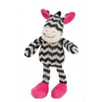 Lily & George Ziggy Zebra Rattle (Pink)