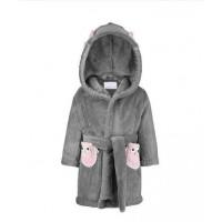 MayLily Bath Robe (Pink Owl)