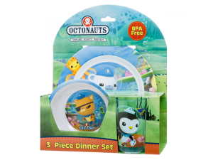 Octonauts 3pc Dinner Set