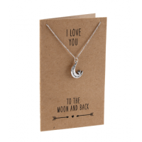 Charm Necklace - Love to Moon & Back