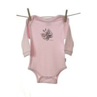 Snooky Long Sleeve Body Suits Pink Butterfly