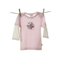 Snooky Long sleeve Tee Shirt Pink Butterfly