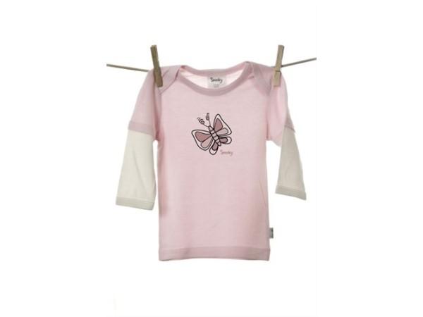 Snooky Long sleeve Tee Shirt Pink Butterfly