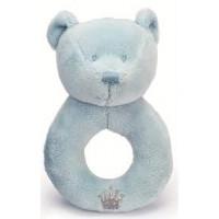 Prince & Princess Teddy Rattle (Blue)