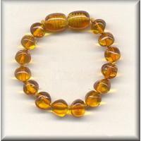 Amber Teething Bracelet (Cognac)