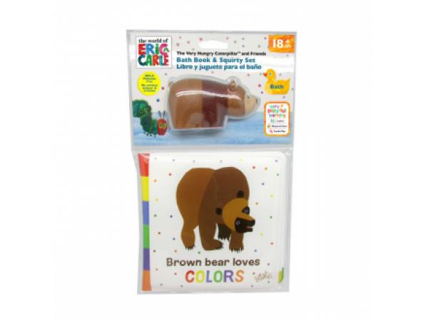 Eric Carle Brown Bear Bath Book & Squirter